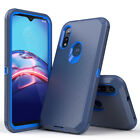 For Motorola Moto E (2020) Shockproof Armor Phone Case+Tempered Glass Protector