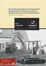 Prospekt Schaeff HR 18 Minibagger 2002 brochure mini excavator excavateur