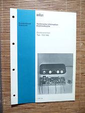 Service Manual für Braun TDS 1000  ,ORIGINAL