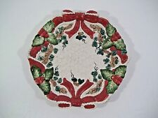 Fitz & Floyd Omnibus Baroque Holiday Snack/Canape Plate - Dated 1994