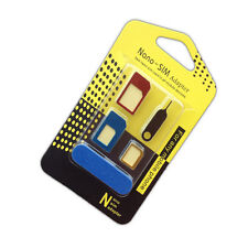 New 5 in 1 Nano SIM Card to Micro Standard Adapter Converter Set Tool for iPhone