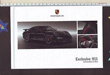 """Prospekt Porsche hardcover 911 """"Exclusive Individuallität ab Werk"""" / Stand: 2013"""