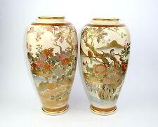 Zwei große Satsuma Vasen Japan um 1920 Bodenvase Vase
