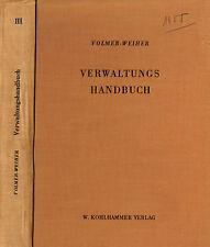 Volmer, gestión manual de oficina de empleo, oficina federal f trabajo de mediación, 1955