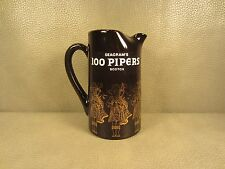 Vintage Seagrams 100 Pipers Scotch Whiskey Ceramic Pitcher Jug