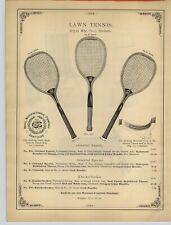 1894 PAPER AD 3 PG Royal Flat Top Tennis Racket Oriental Expert Wright & Ditson