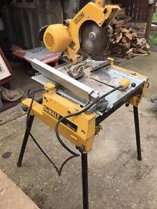 DeWalt DW743 110v Flip Saw/ Table Saw With Legs