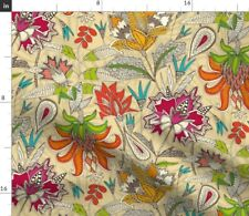 New listing Chintz Pop Illustration Flowers Floral Fantasy Spoonflower Fabric by the Yard