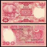Indonesia 100 Rupiah Banknote, 1977, P-116, UNC, Asia Paper Money
