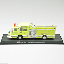 1:64 Scale 1997 Pierce Quantum Pumper Yellow Fire Truck Diecast  Model Toy New