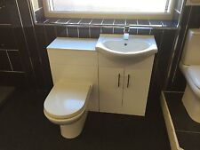 550 Vanity unit basin and WC toilet