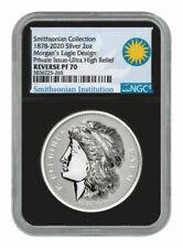 1878-2020 Morgan's Gold Eagle Uhr 2oz Silver Medal Ngc Rev Pf70 Black Sku60751