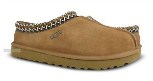 UGG Australia Tasman Chestnut Suede Fur Slippers Mens Size 11 *NIB*