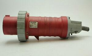 Leviton 460P7W 60A 480V 3-Phase Watertight Industrial Plug Used