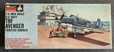 Monogram U.S. Navy TBF Avenger Torpedo Bomber - 1/48 Scale- Vintage 1966 Kit