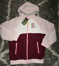 Girls justice Reversible super soft sherpa jacket size 12 pink/ruby colorblock