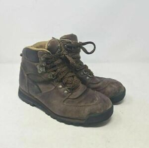 Cabelas Mens Hiking Trail Boots Brown Leather Lace Up Round Toe Waterproof 8 E