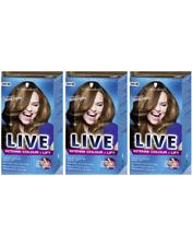 Schwarzkopf Live Intense Colour Lift Permanent L54 Luminous Brown - Pack of 3
