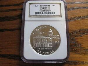 2001 P Capitol Silver Dollar  NGC MS 69      Lot# B CG