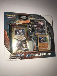 POKEMON Trading Cards Sun & Moon Burning Shadows GX Challenge Box Lycanroc NEW