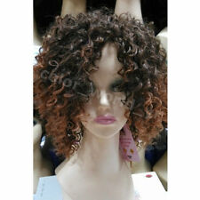 Hot Popular Women Short Brown Afro Wavy Curly Hair Ladies Cosplay Party Full Wig