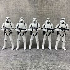 """Lot of 5 Star Wars OTC Trilogy Stormtrooper White 3.75"""" Loose Action Figure"""