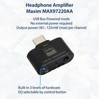 Type-C Audio Adapter DAC 96 KHz 24 Bit 3.5mm Audio Mic Jack 2 Level EQ support