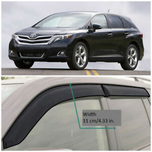 TE25708 Window Visors Sun Guard Vent Wide Deflectors For Toyota Venza 2008-2017