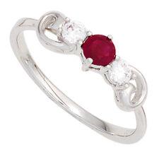 Echte Edelstein-Ringe aus Weißgold mit Rubin für Damen