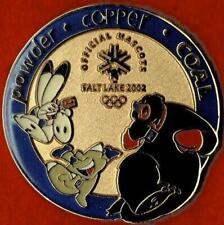 Rare Numbered 2002 Salt Lake City Mascot Names Olympic Games Mark Pin