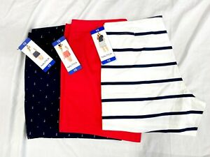 """NWT Nautica Women's Cotton Stretch Twill 5"""" Inseam Side Pockets Colors and Sizes"""