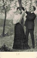Early 1900's Vintage Post Card Man Woman 19