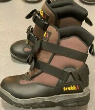 Trukk Insulated Winter Snow Boots Snowmobile Mens Size 8 Black Brown