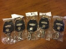 Lot of 5 New black leather key chain w/ NASCAR earnhardt 3 car, detachable ring