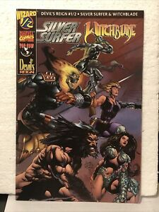 WIZARD/TOP COW, MARVEL, DEVIL'S REIGN 1/2, Silver Surfer, Witchblade, NM, 1997