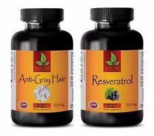 Antioxidant boost - ANTI GRAY HAIR – RESVERATROL 1200 COMBO - zinc and copper