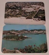 2 Vintage Paget Bermuda Postcard Hamilton Harbour Elbow Beach Surf Club Dexter