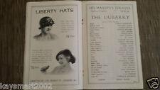 Theatre Programme: THE DUBARRY - ANNE AHLERS, HELEN HAYE, MIMI CRAWFORD