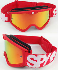 SPY Optics Targa 3 Motocross MX Occhiali Rossi Dawn con ROSSO INFERNO MIRROR LENS