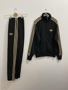 Adidas Originals ADI-Firebird Tracksuit Black Gold Size M