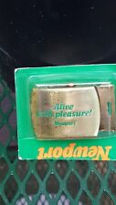 Pleasure Brass Belt Buckle Usa Made Nos Vintage 80s Newport Cigarette Alive With