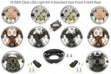 10 RDX CLEAR LED Light Kit 6 NAS 4 Standard Relay Defender 2002 to 2016 Td5/Tdci