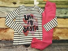 Gymboree 10 12 Valentine's Day Love My Bestie Top Pink Leggings NWT Outlet