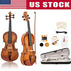 New Glarry Glarry Full Size Spruce Maple Natural Violin W/ Case Row Rosin String for sale