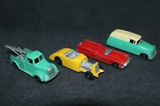 Tootsietoy 1950's Die Cast x4 1947 Mack Tow Truck Dodge Panel Van Ford Roadster