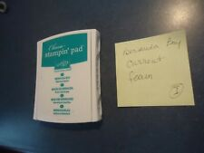 """Stampin Up """"CLASSIC"""" INK PAD """"Bermuda Bay"""" Current Color Dye Stamp Tested II"""