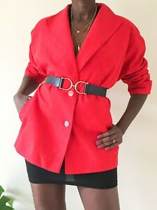 Your sixth sense C&A Red vintage Jacket ladies velvet feel 90's eu 44, uk 14