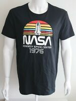 NASA Mens Graphic Tee Black 100% Cotton T-Shirt Size L
