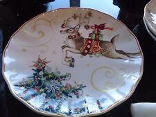 8 Williams Sonoma Twas night before Christmas Dinner plates Reindeer  New