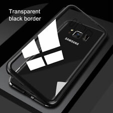 Magnetic absorption Glass Back Phone Case Cover For Samsung A10 A20 A40 A50 A70